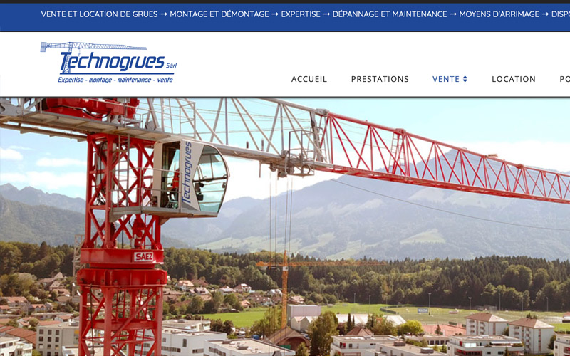 Technogrues vente et location de grues