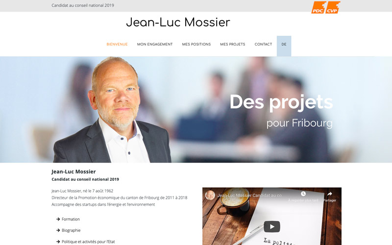 Jean-Luc Mossier candidat PDC