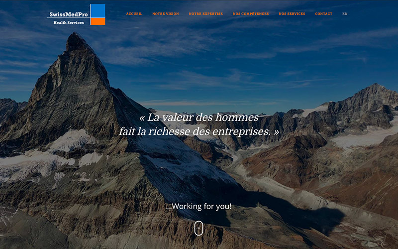 SwissMedPro création web