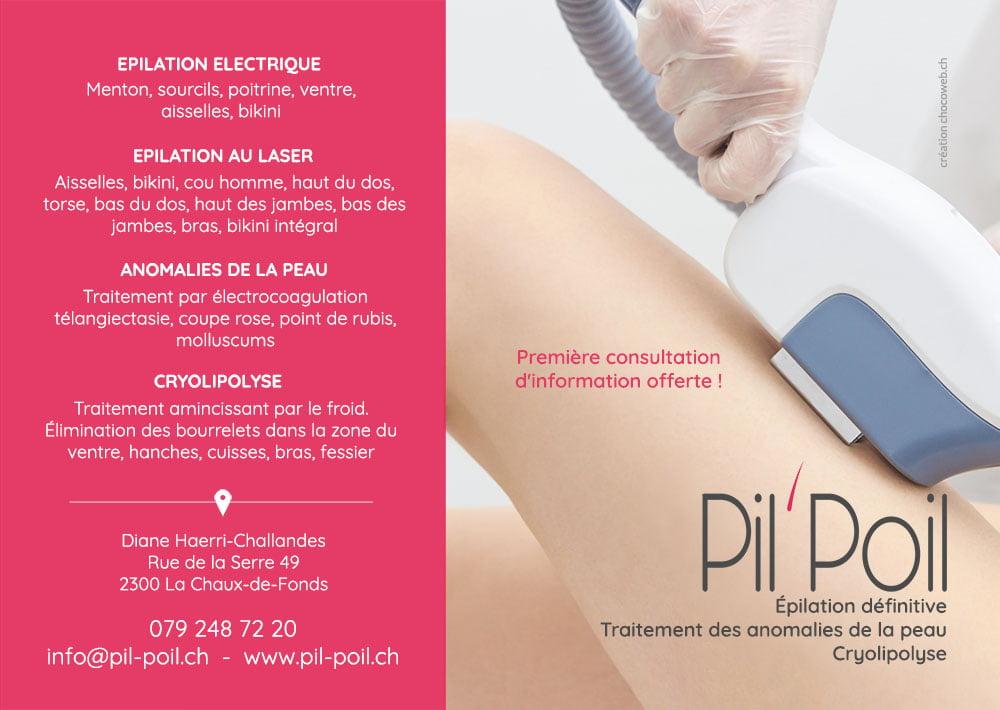 Création graphique flyers PilPoil