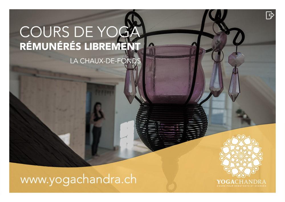 Création graphique flyers yoga chandra