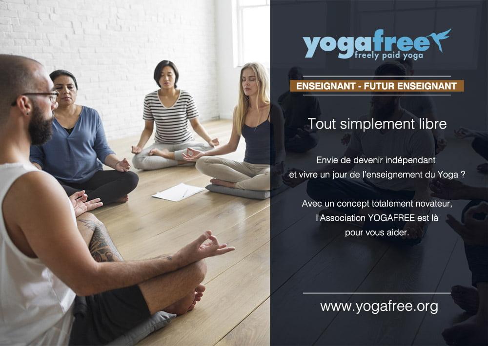 Création graphique flyers yogafree