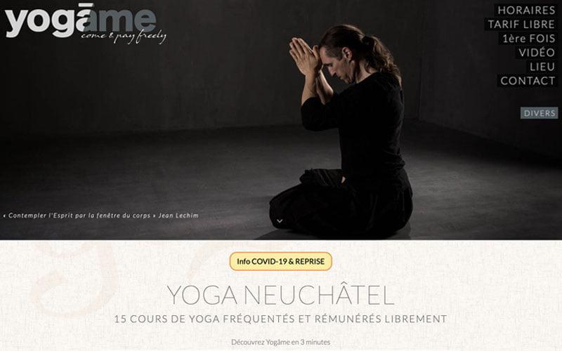 site Internet yogâme neuchâtel