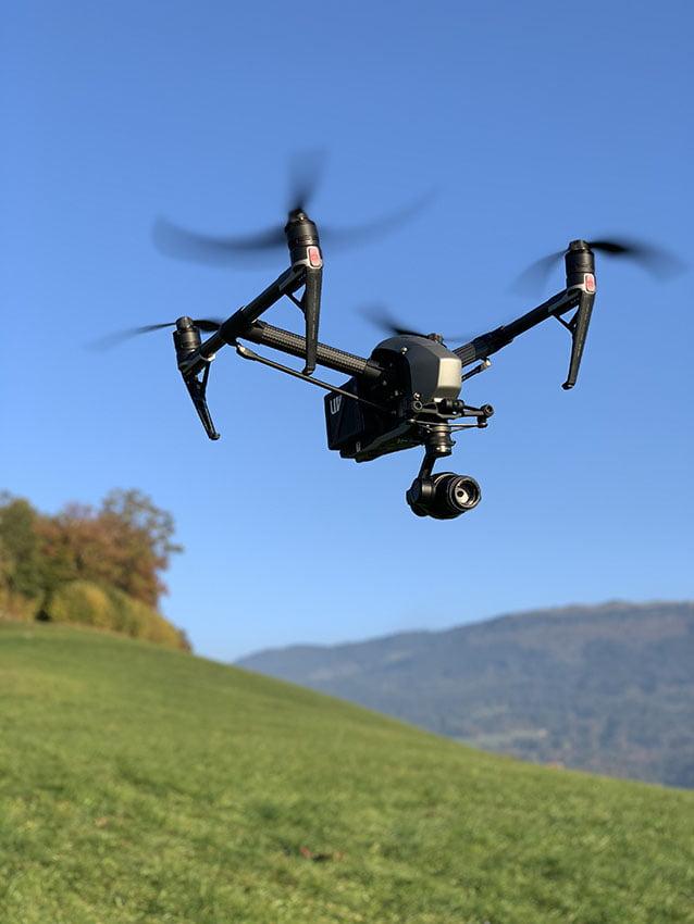 vue aérienne par drone